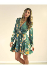 Aakaa Yasmine Dress Green