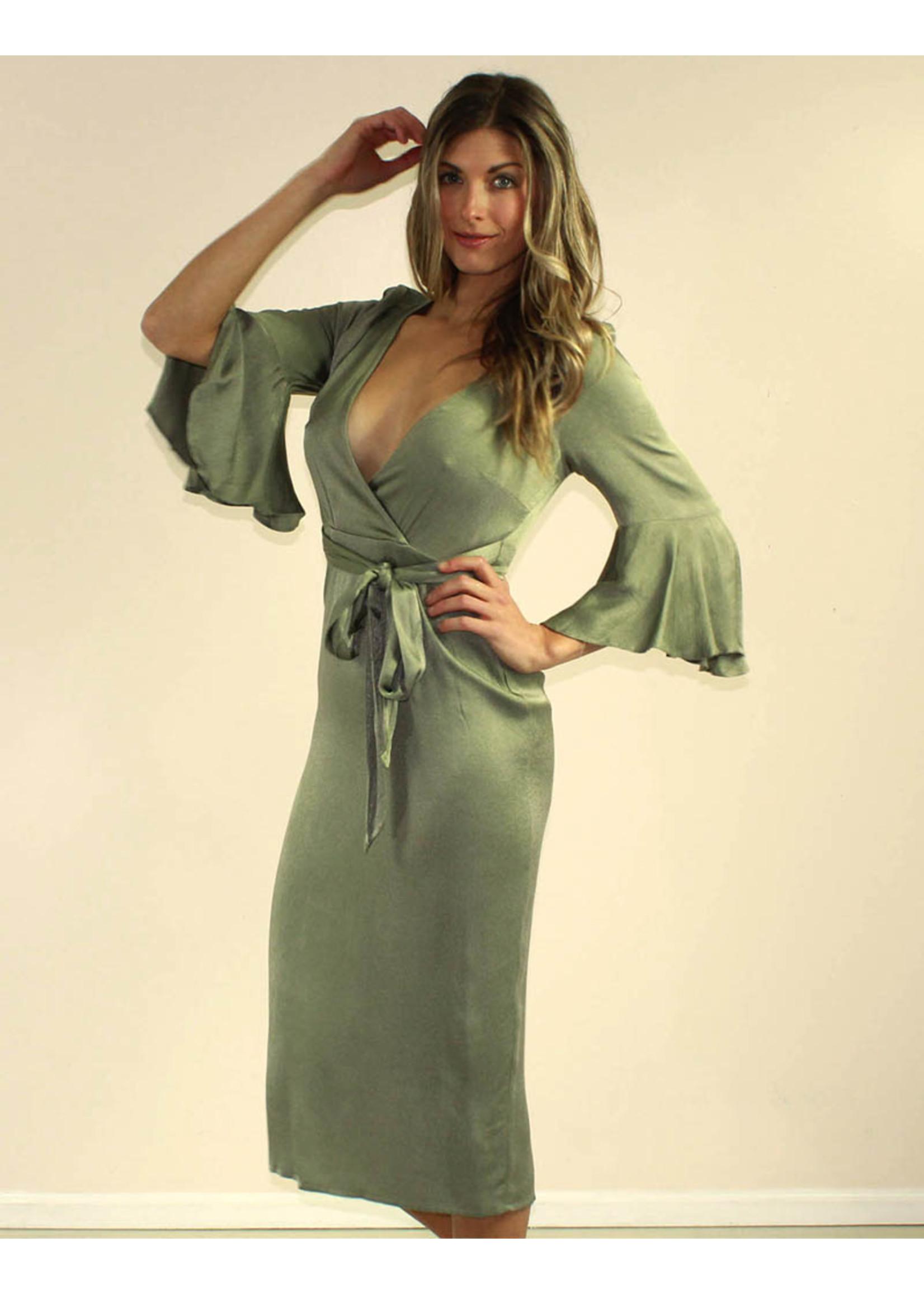 Selfie Leslie Zoie Dress Olive