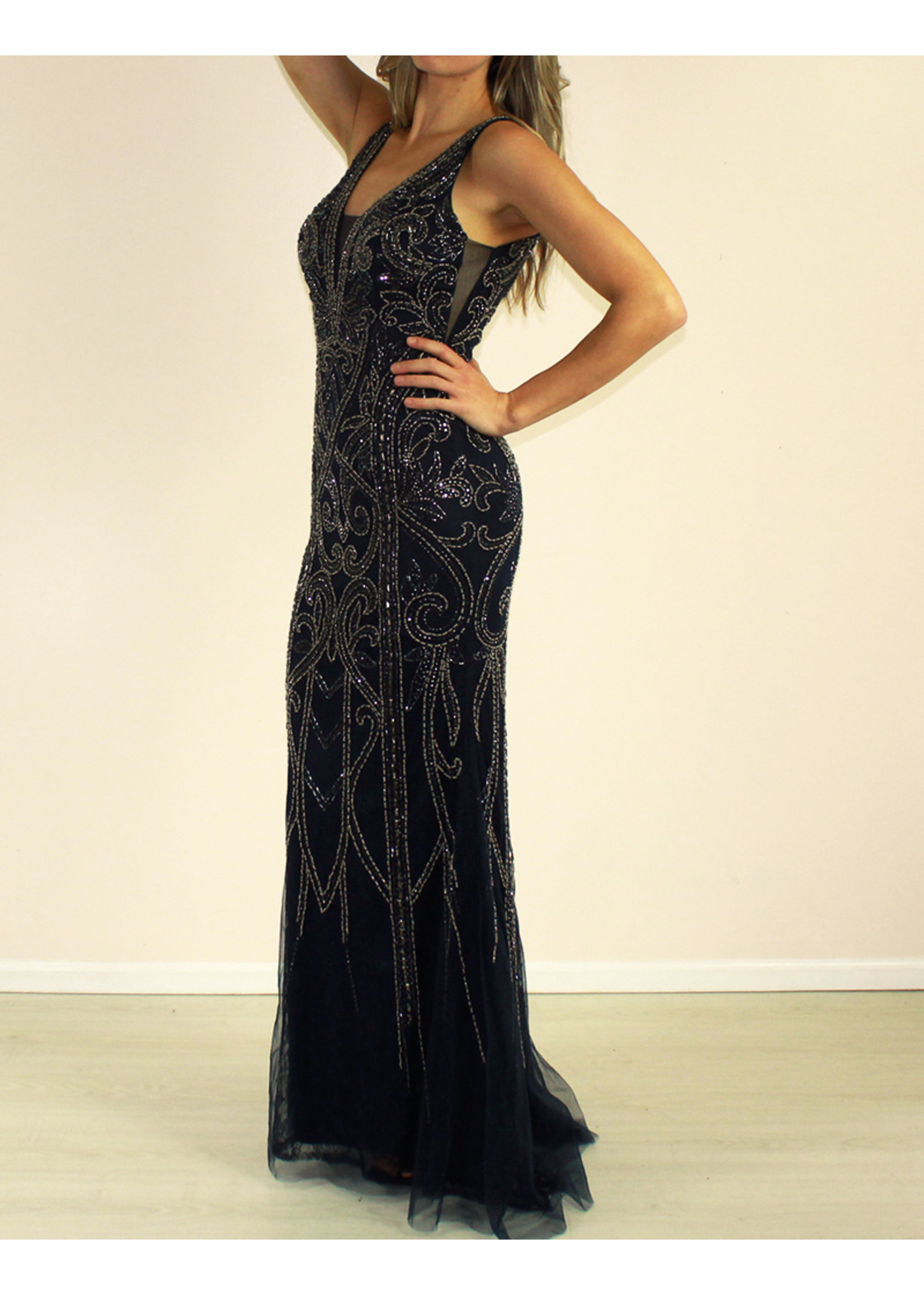 Aspeed Giovanna Dress Navy