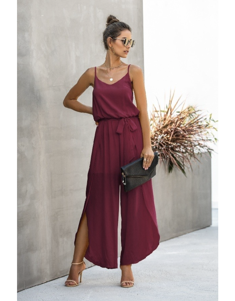 Mountain Valley Trading Reagan Jumpsuit Burgundy