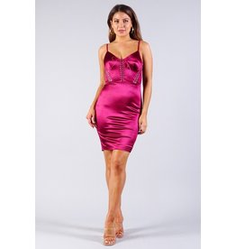 Cefian Jaymee Dress Burgundy