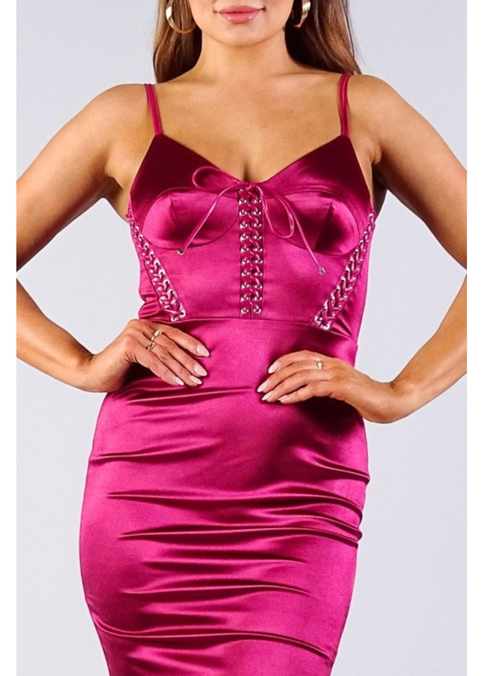 Cefian Jaymee Dress Burgundy