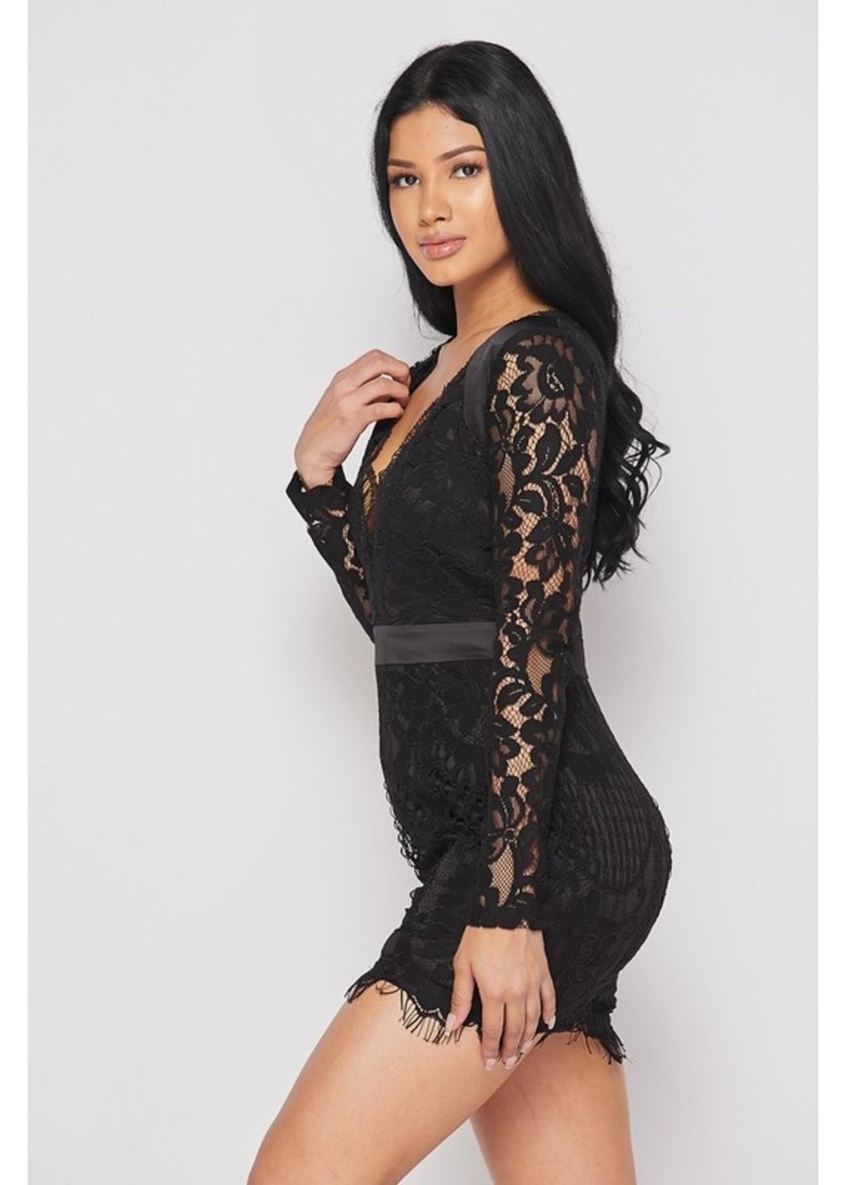 Banjul Indiasa Dress Black
