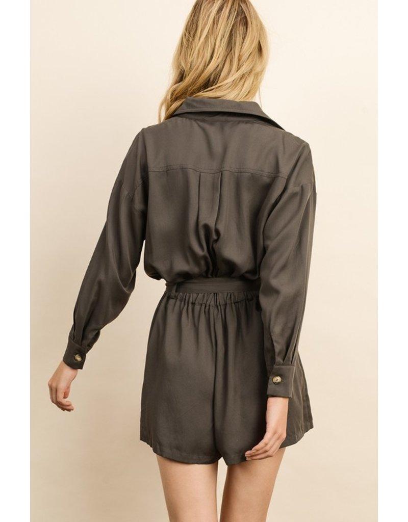 Dress Forum Camryn Romper Olive