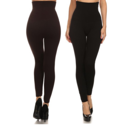 YELETE Taryne Waist Control Leggings Black ONE SIZE