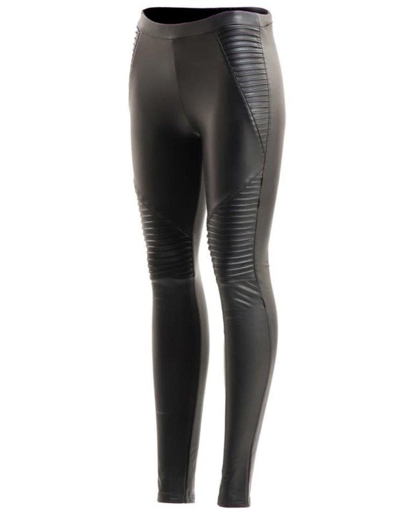 5Besties Rayleigh Pleather Pants Black
