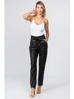 5Besties Sacha Paper Bag Pants Black