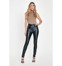 Vibrant m.i.U Valerian Pleather Pants Black