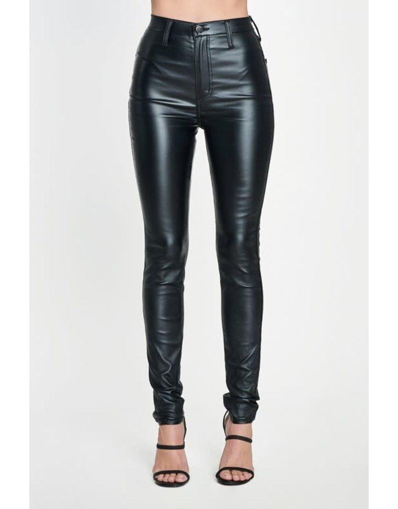 Vibrant m.i.U Valerian Pleather Pants Black