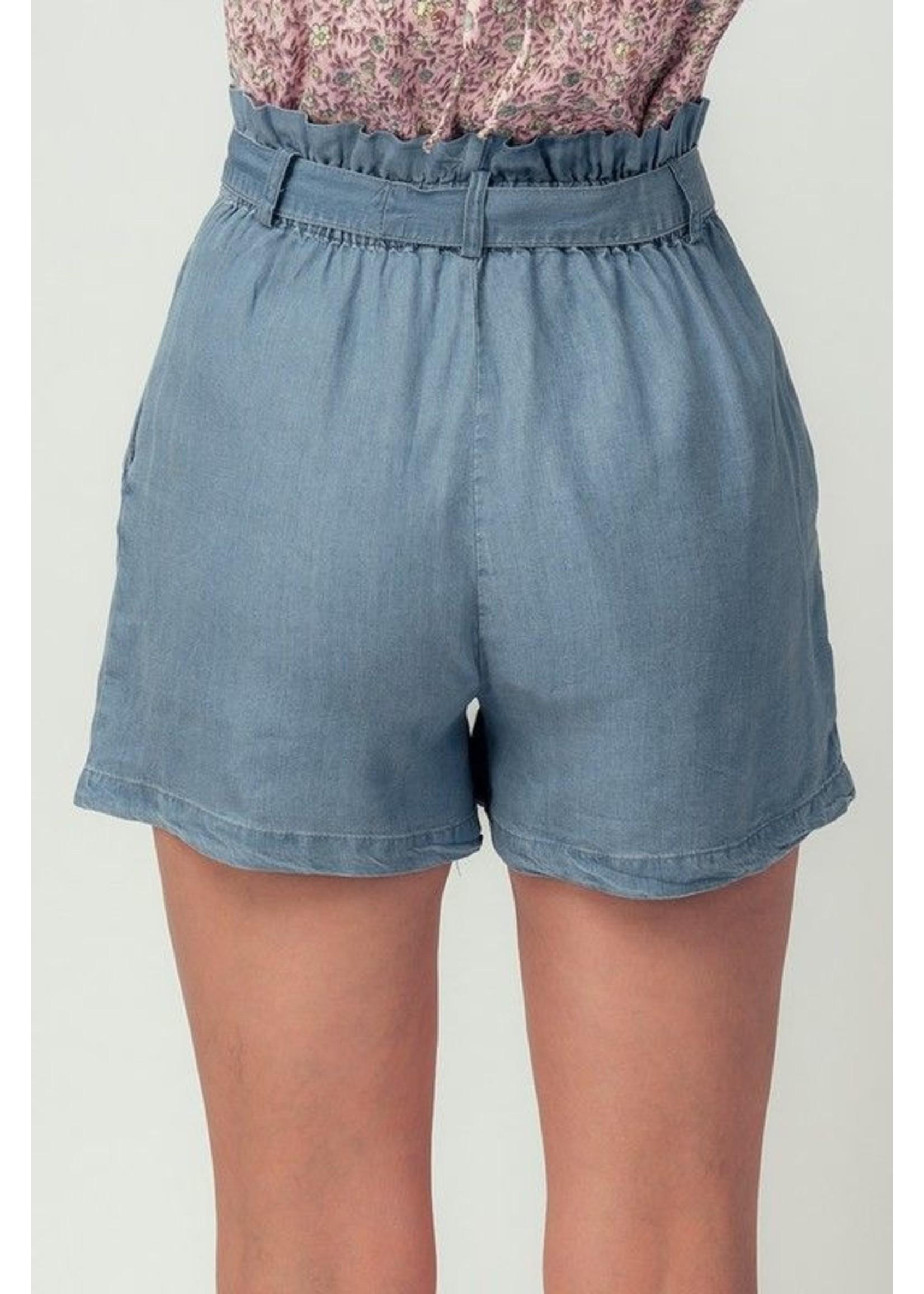 trend : notes Casidi Paper Bag Shorts Blue