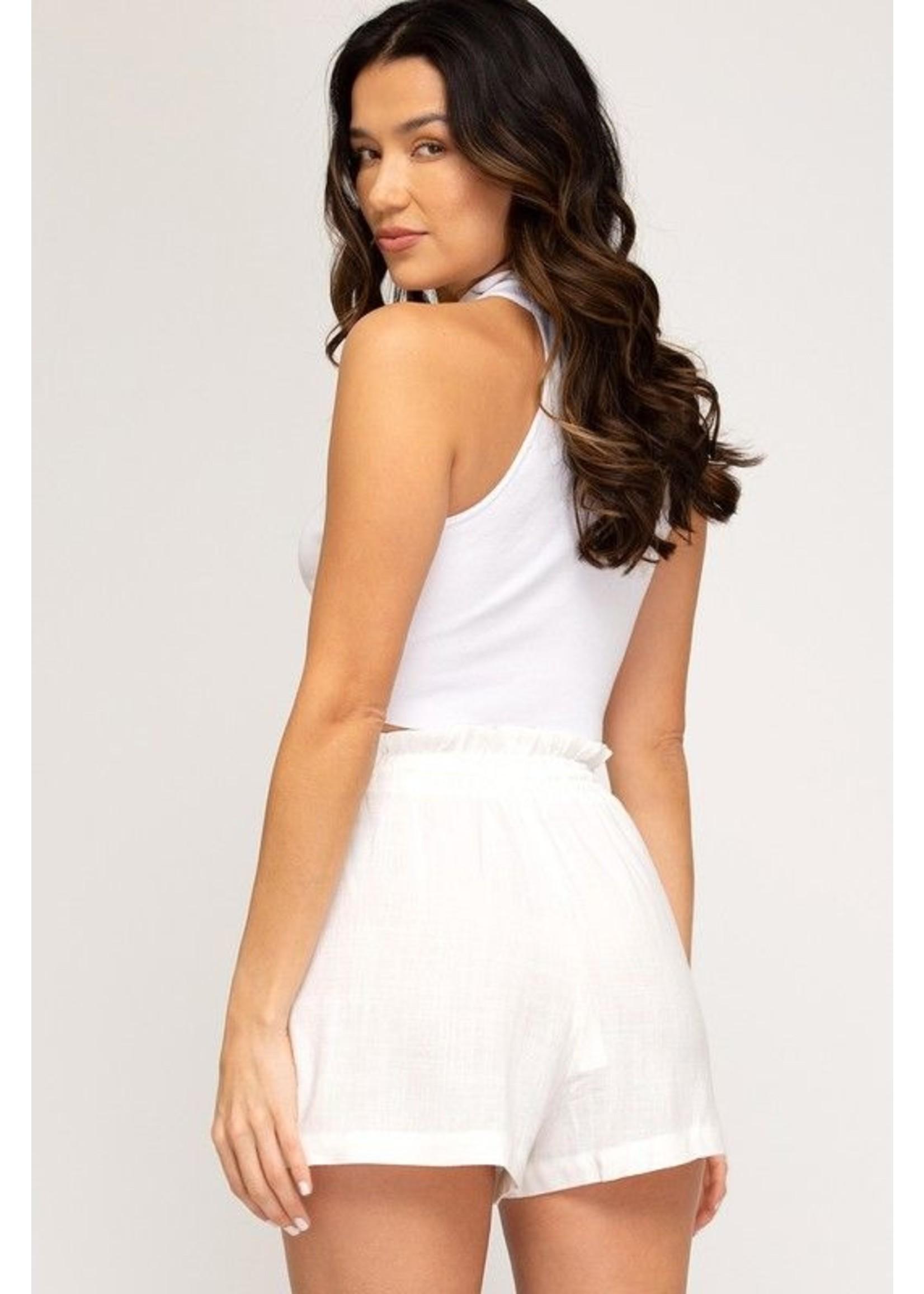 American Fit Faithe Shorts White