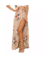 AEXPRESS Paigely Maxi Skirt Nude