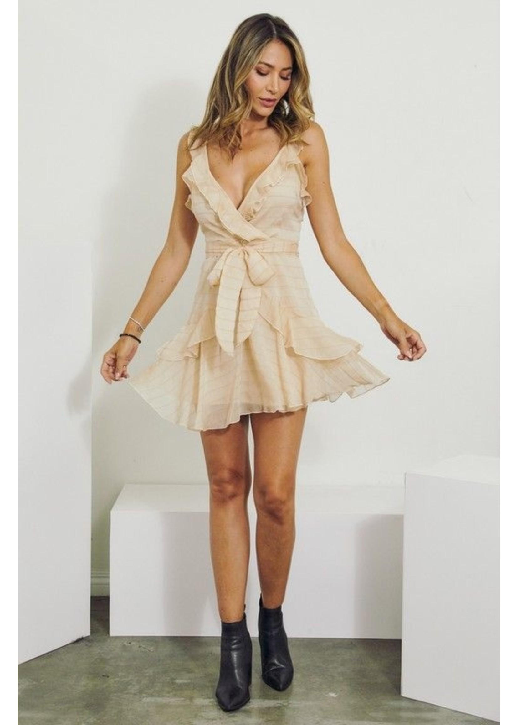 J. NNA Charlise Dress Champange