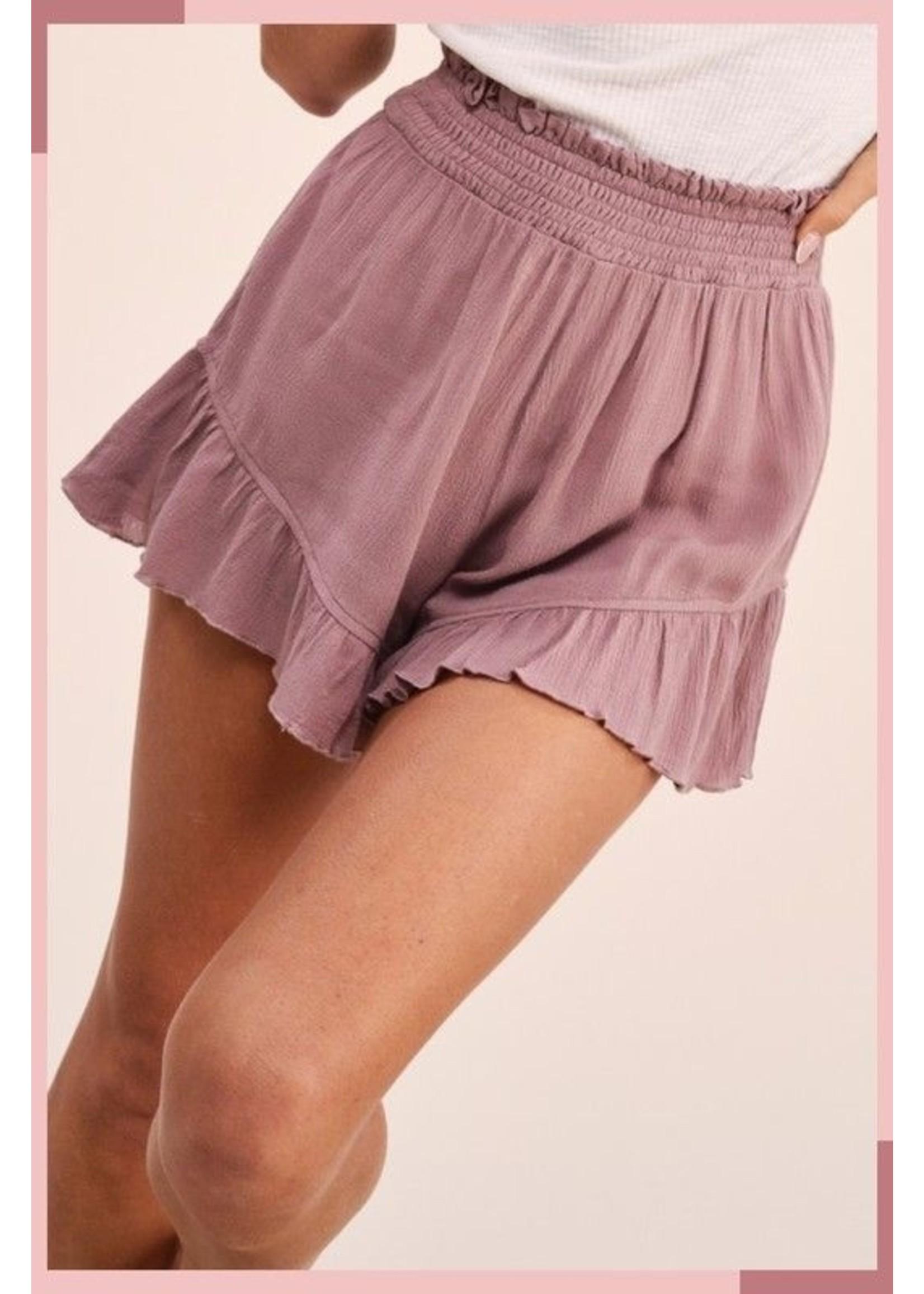 LA MIEL Kaylee Shorts Mauve