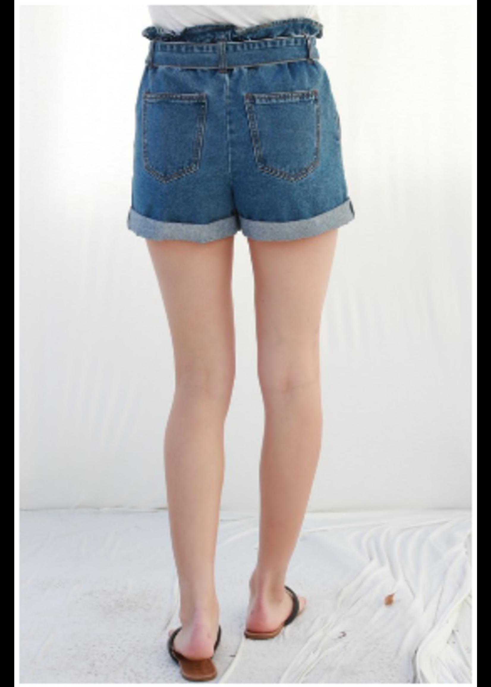 trend : notes Jayme Paperbag Shorts Blue