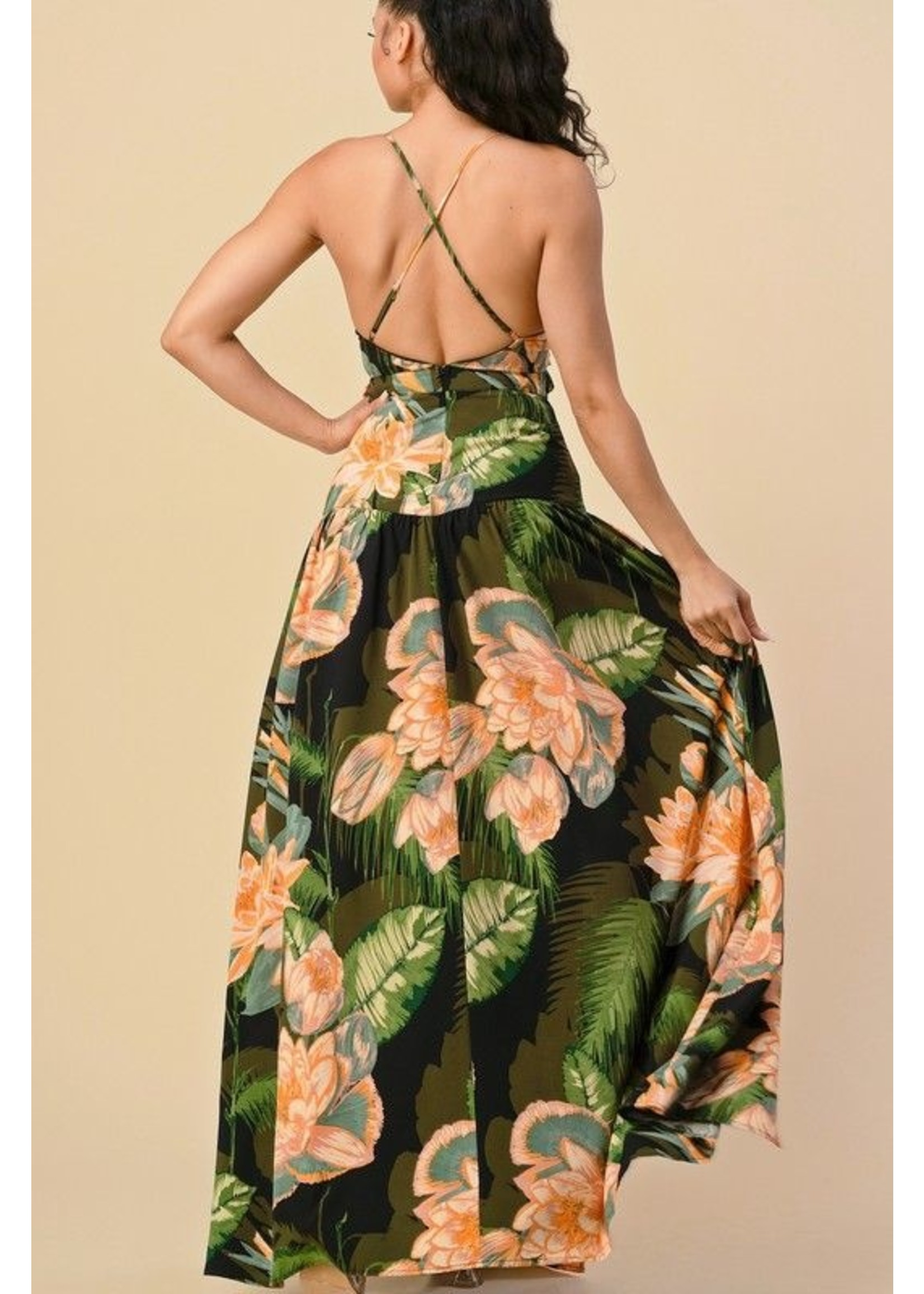 The Sang Clothing Queen of the Jungle Dress Green