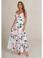 CHICWAYS Bella Ragazza Maxi Dress White