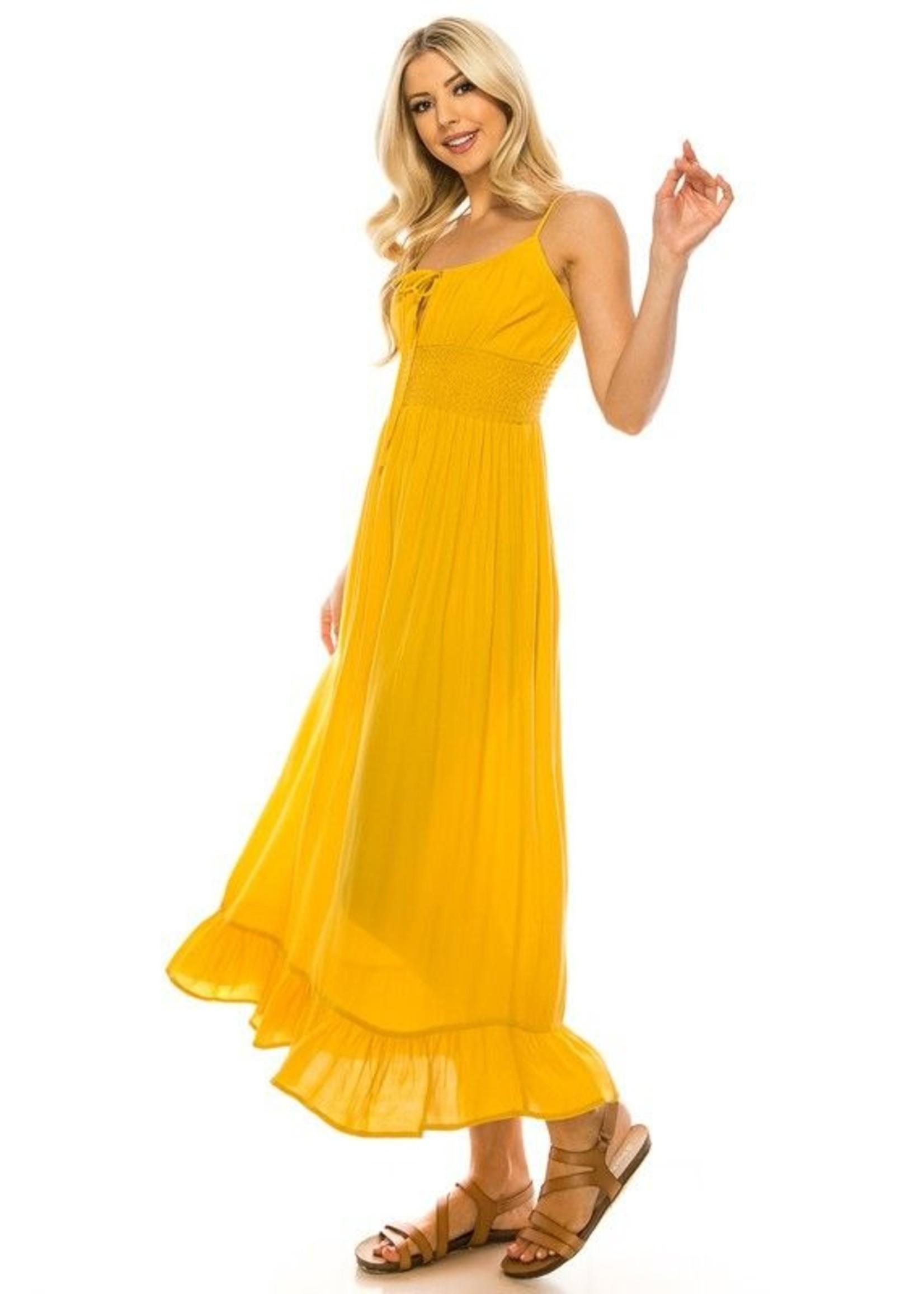 Jack & Jill Be Classic Dress Mustard