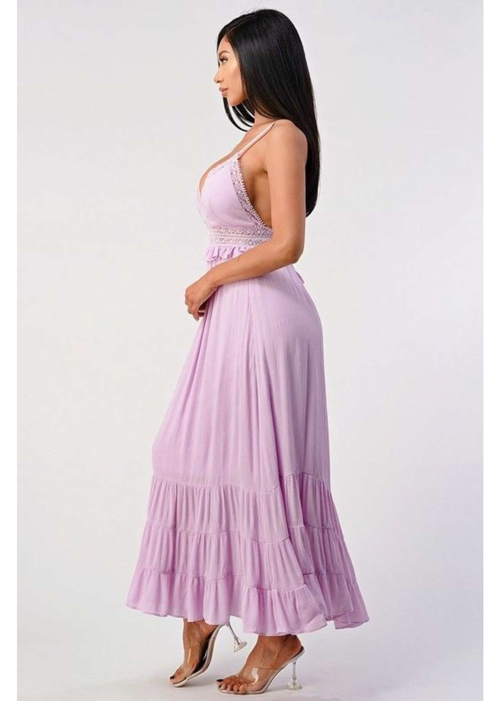 Shero All About Details Maxi Dress Lavender