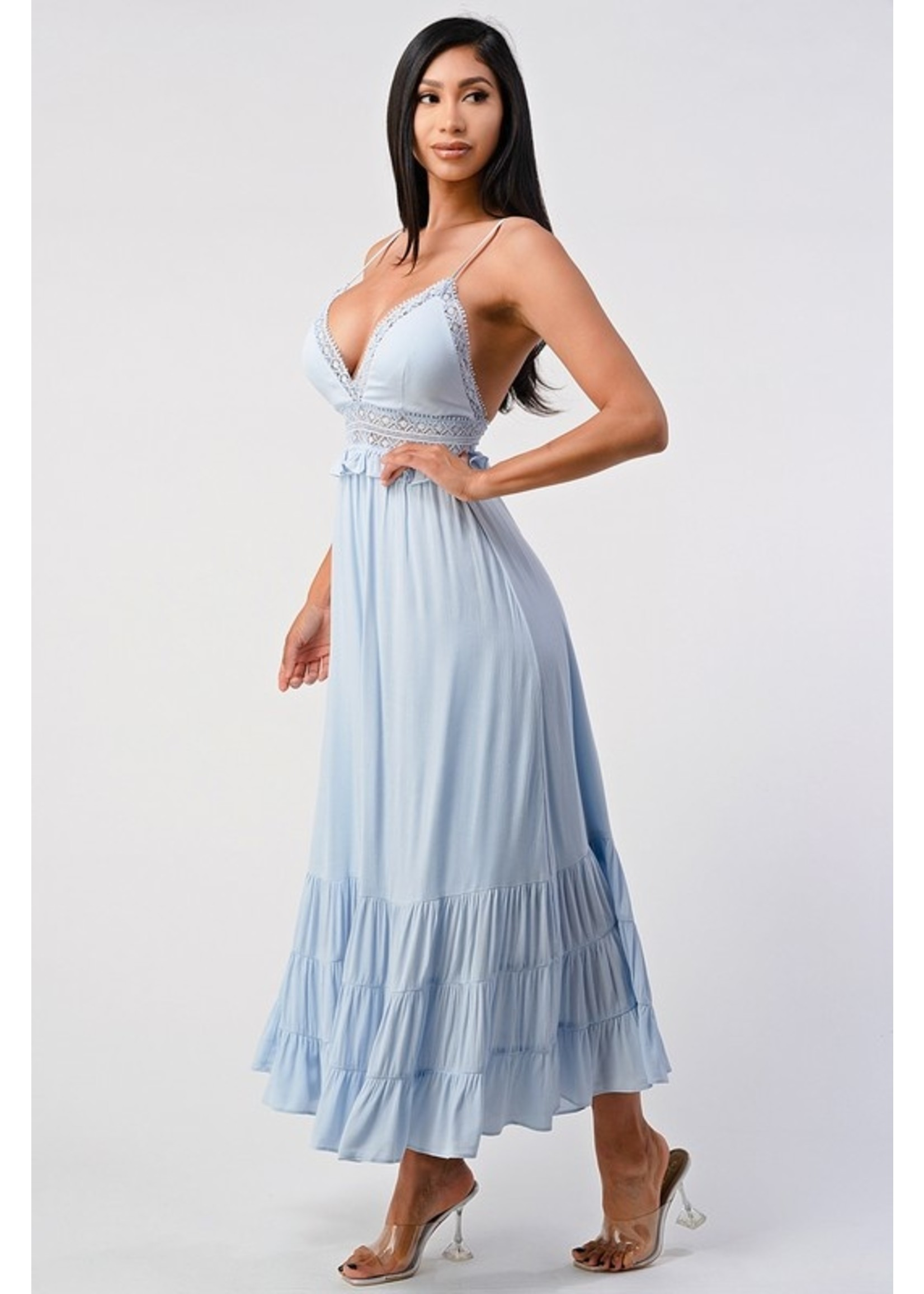 Shero All About Details Maxi Dress Blue
