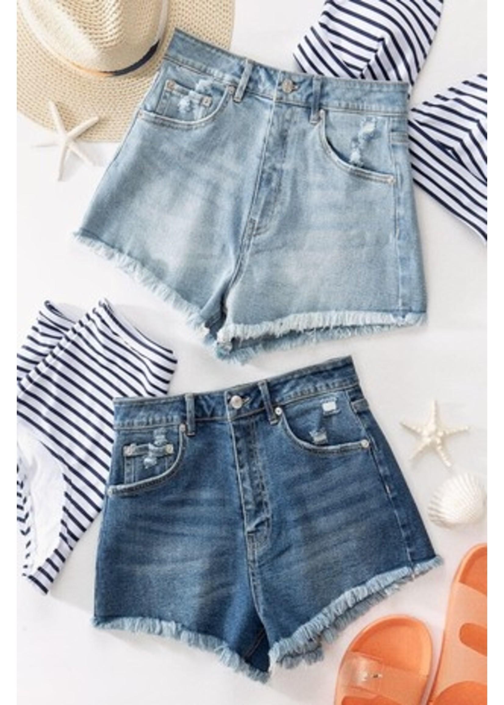 trend : notes Daisy Dukes 2.0 Shorts Blue