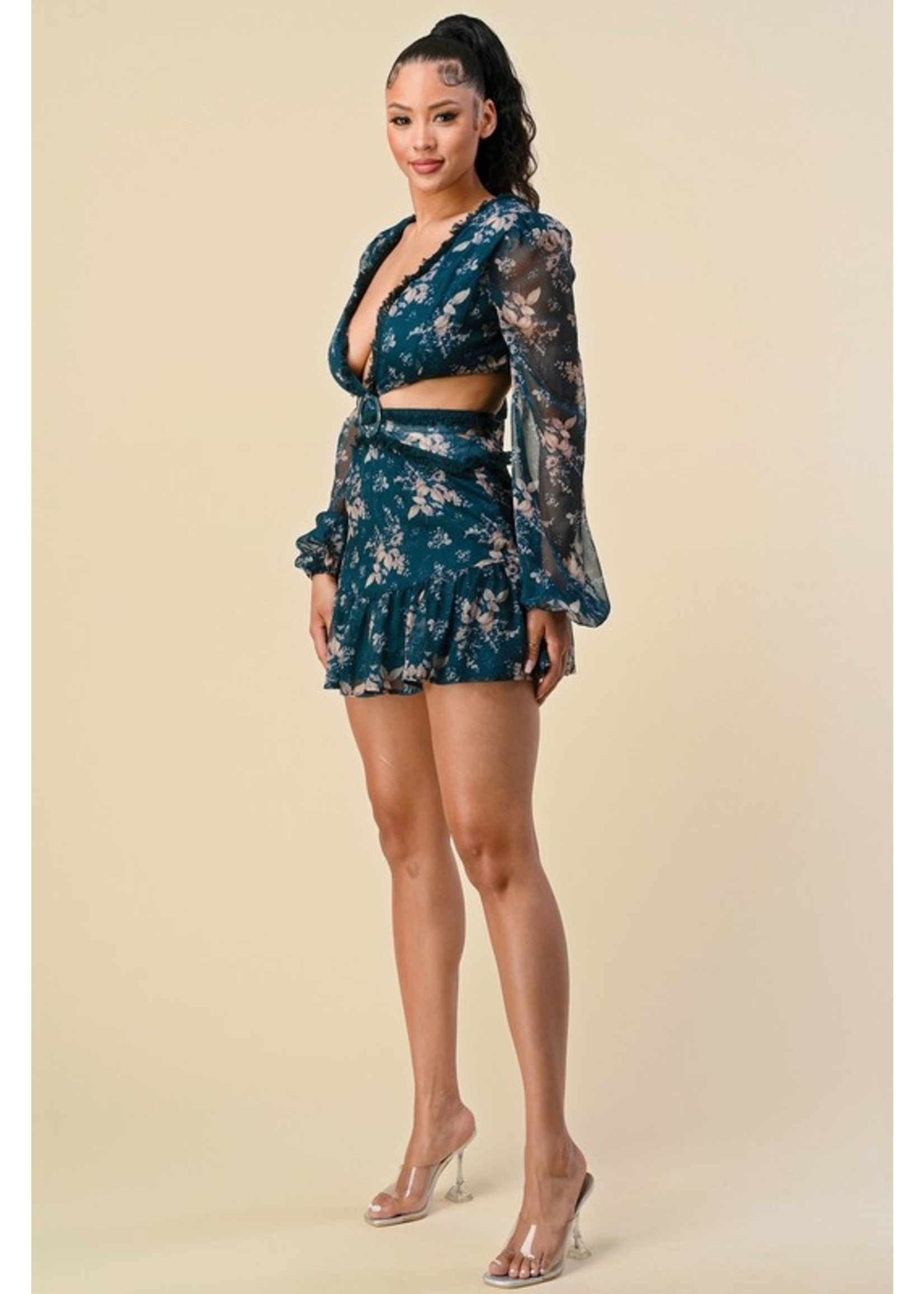 The Sang Clothing Rock It Dress Teal