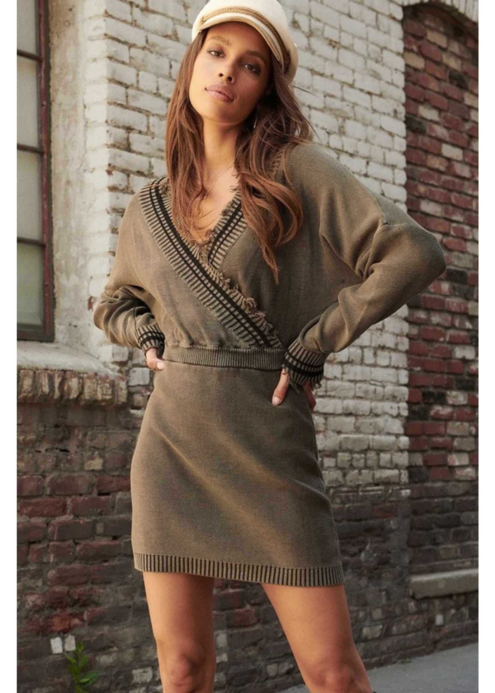 Promesa USA Street Chic Dress Olive