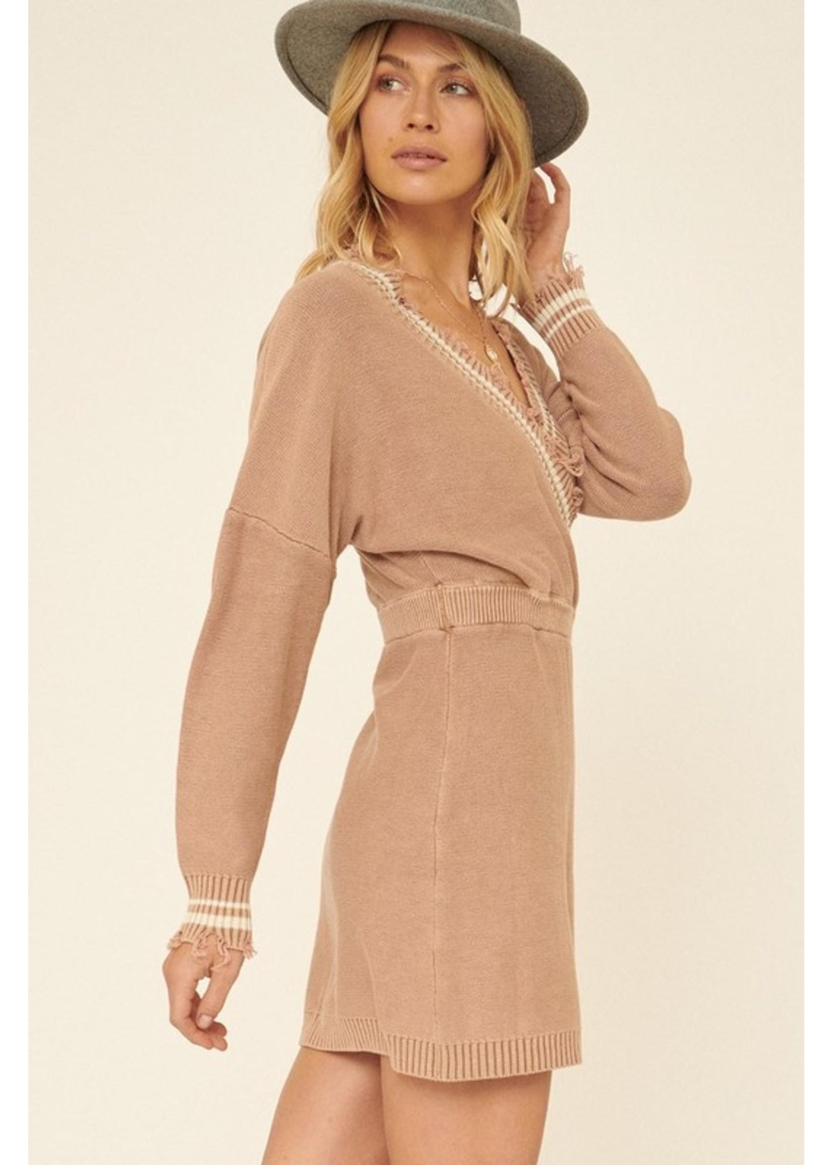 Promesa USA Street Chic Dress Taupe