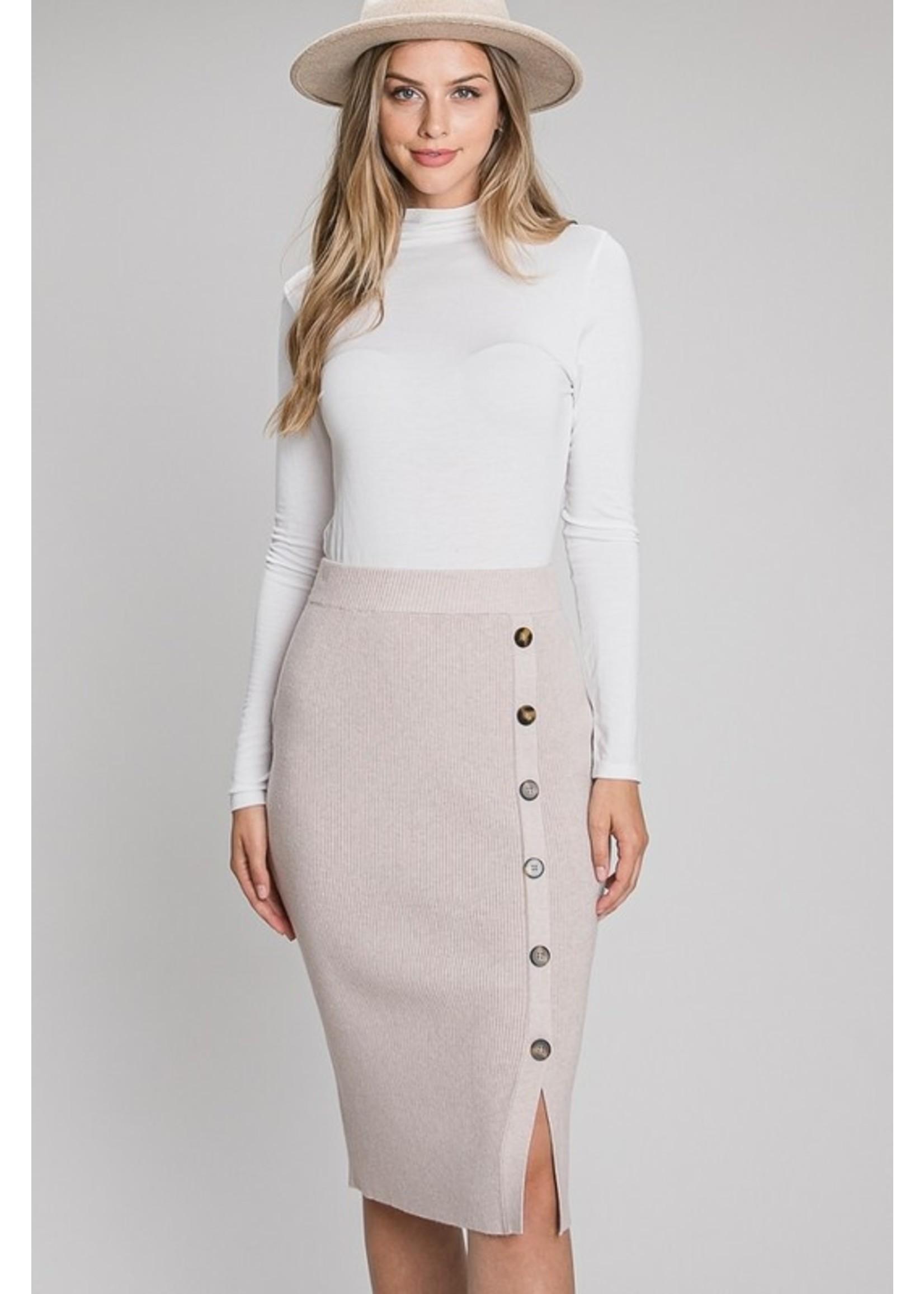 Allie Rose Downtown Girl Pencil Skirt Mauve