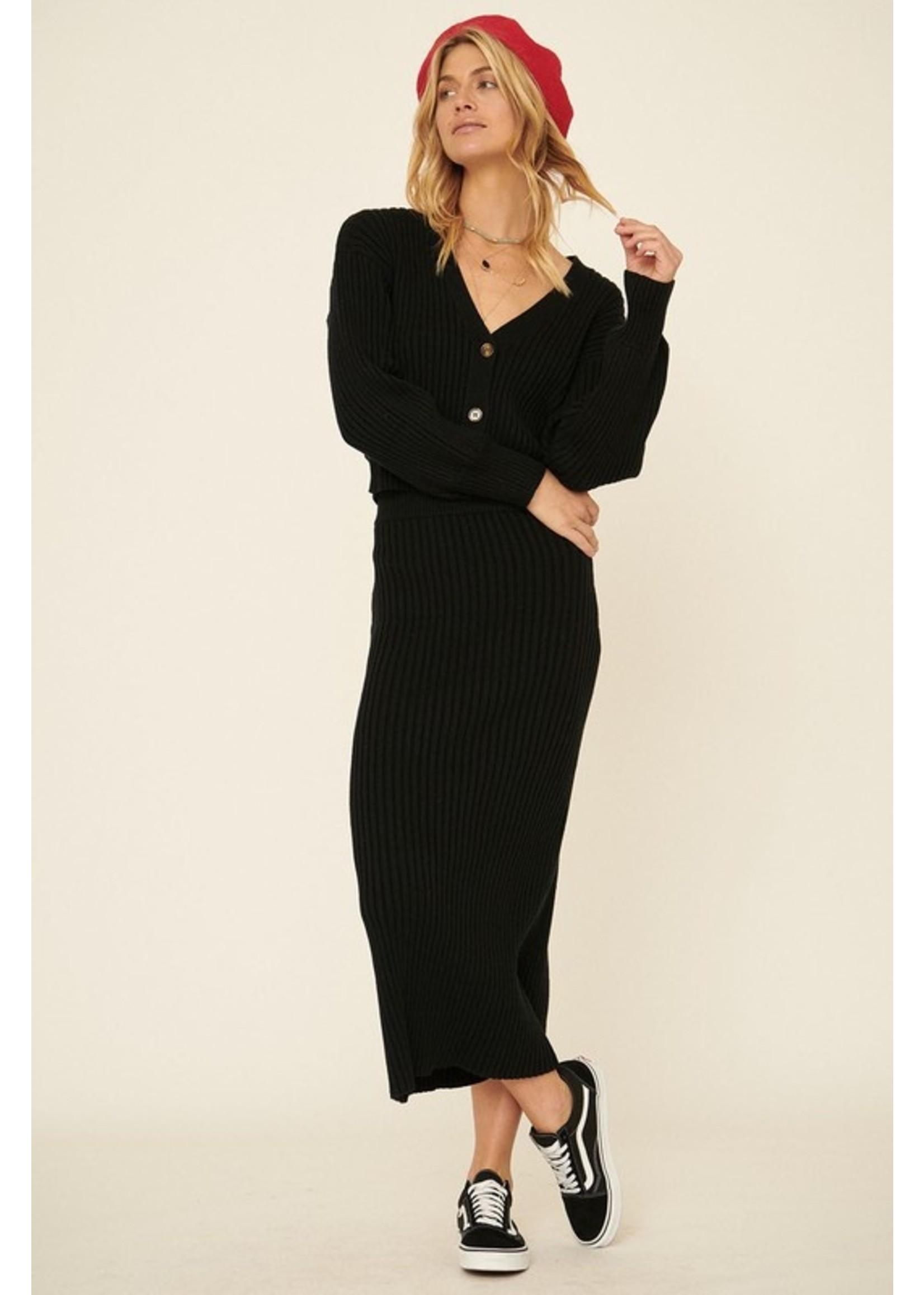 Promesa USA Keeping You Warm Maxi Skirt Black