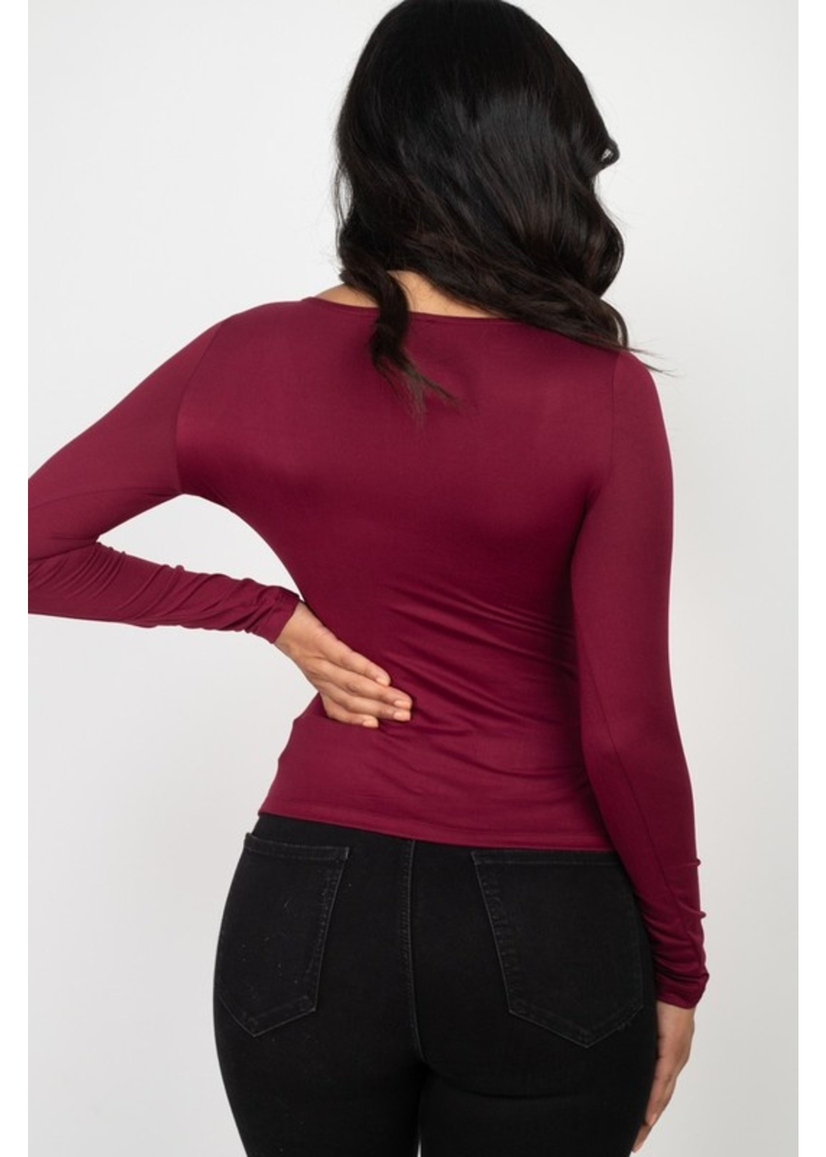 Capella Sincerely Yours Top Burgundy