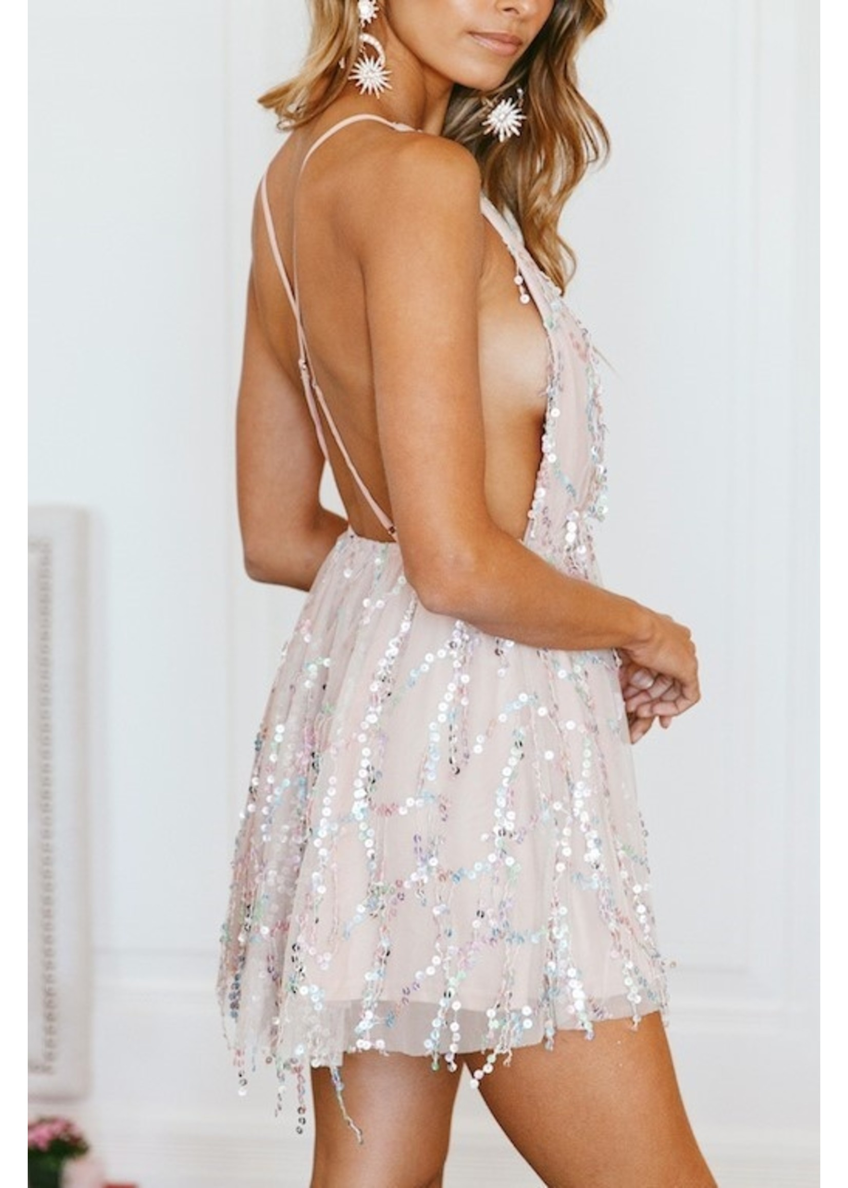 Selfie Leslie Stars & Sparkly Dress Multi