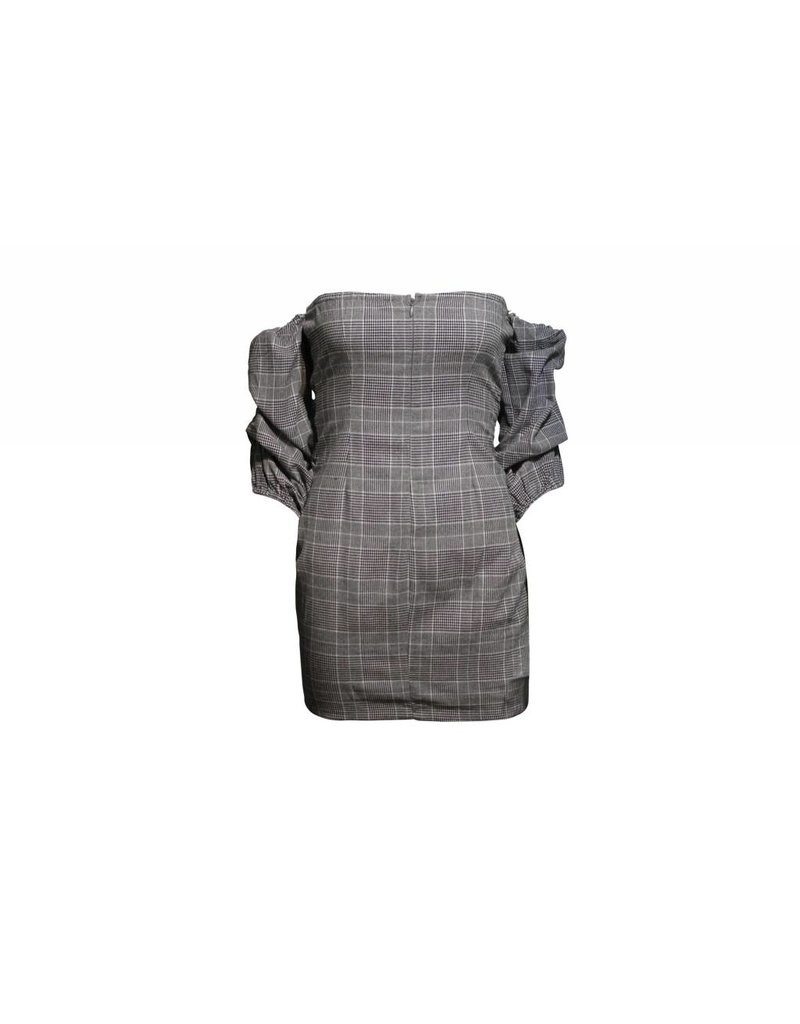 Shop17 Heather Plaid Tie Up Dress
