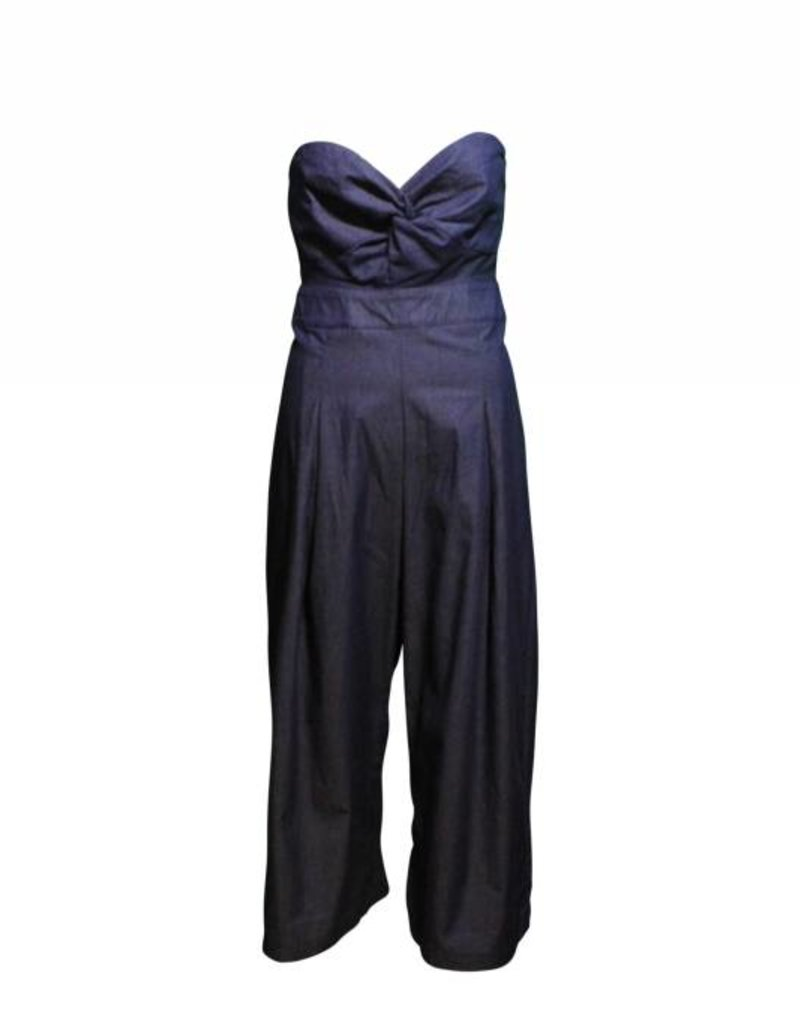 Hera Collection June Casual Denim Tube Jumpsuit