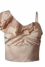 Nylon Apparel Lily Ruffled One Shoulder Top
