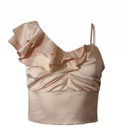 Nylon Apparel Lily Ruffled One Shoulder Top Blush
