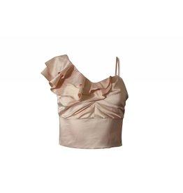 Nylon Apparel Lily Ruffled One Shoulder Top Blush