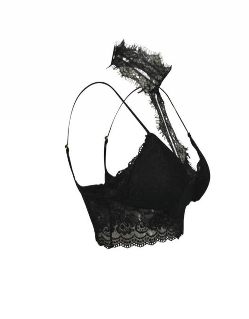 Dynamic Fashion Lace Choker Longline Bralette