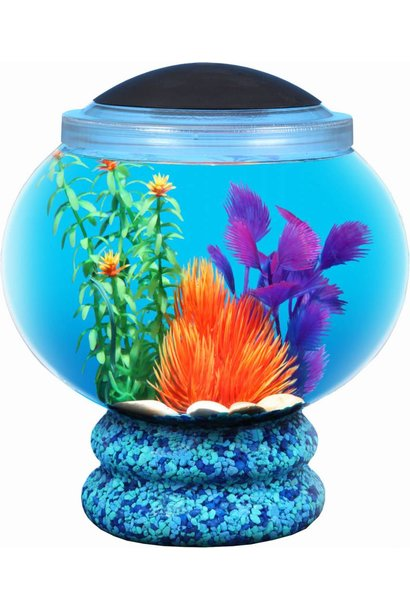 API Betta Kit 1.6gal Globe w/Pedestal & LED Light