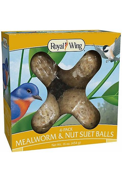 WLS Mealworm & Nuts Suet Balls 16oz