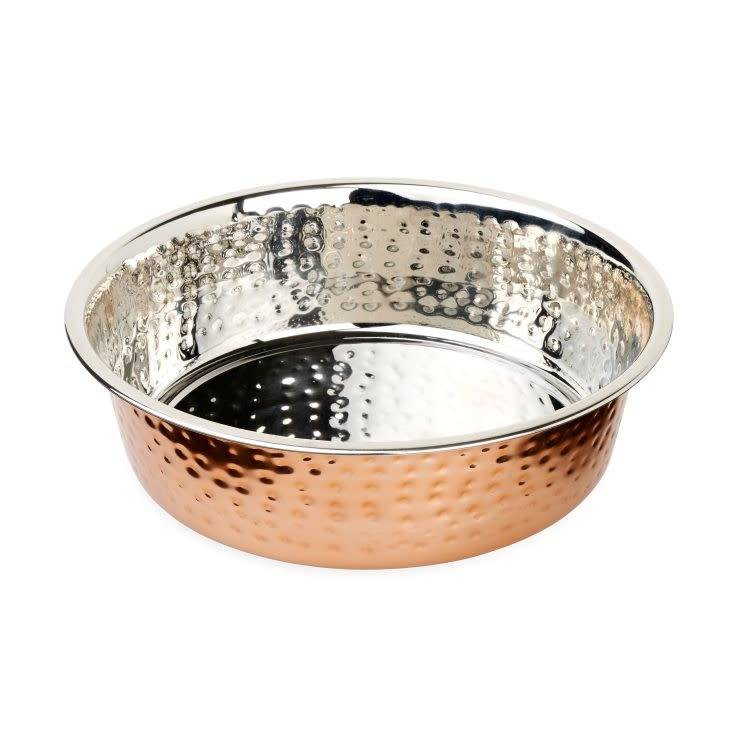 Buddy's Line SS Hammered Copper Bowl  2.96L-1