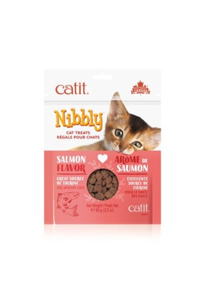 Catit Nibbly Cat Treats - Salmon Flavour - 90 g
