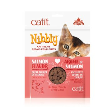 Catit Nibbly Cat Treats - Salmon Flavour - 90 g-1