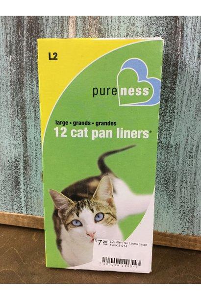 L2 Litter Pan Liners Large 12PK 31x14