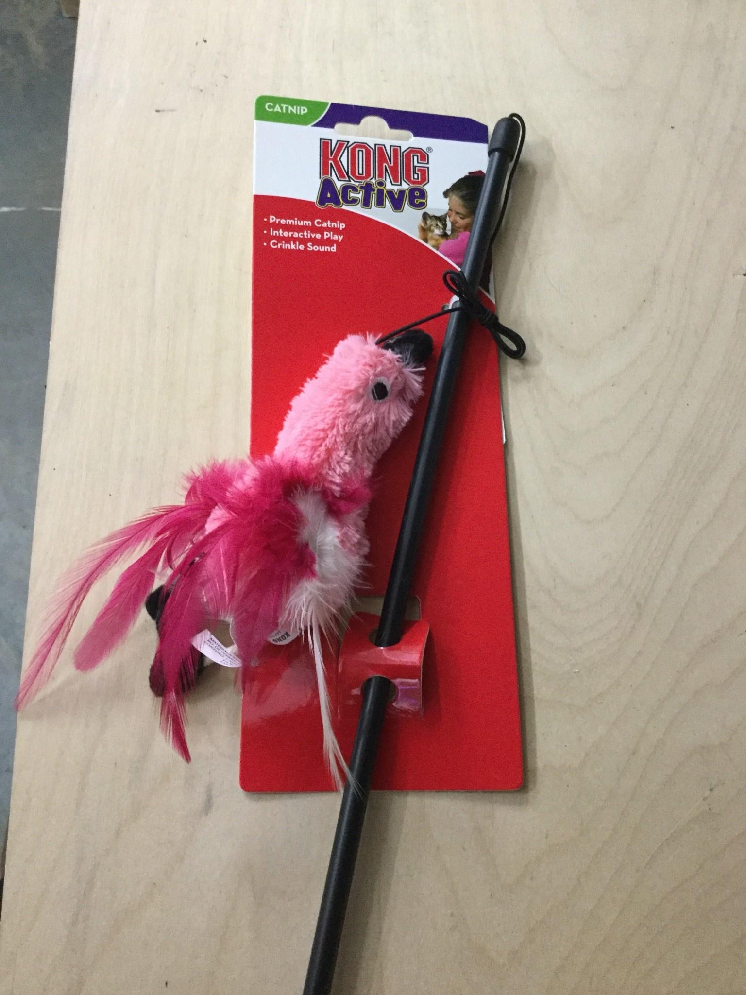 KONG Cat Feather Teaser Wand-1