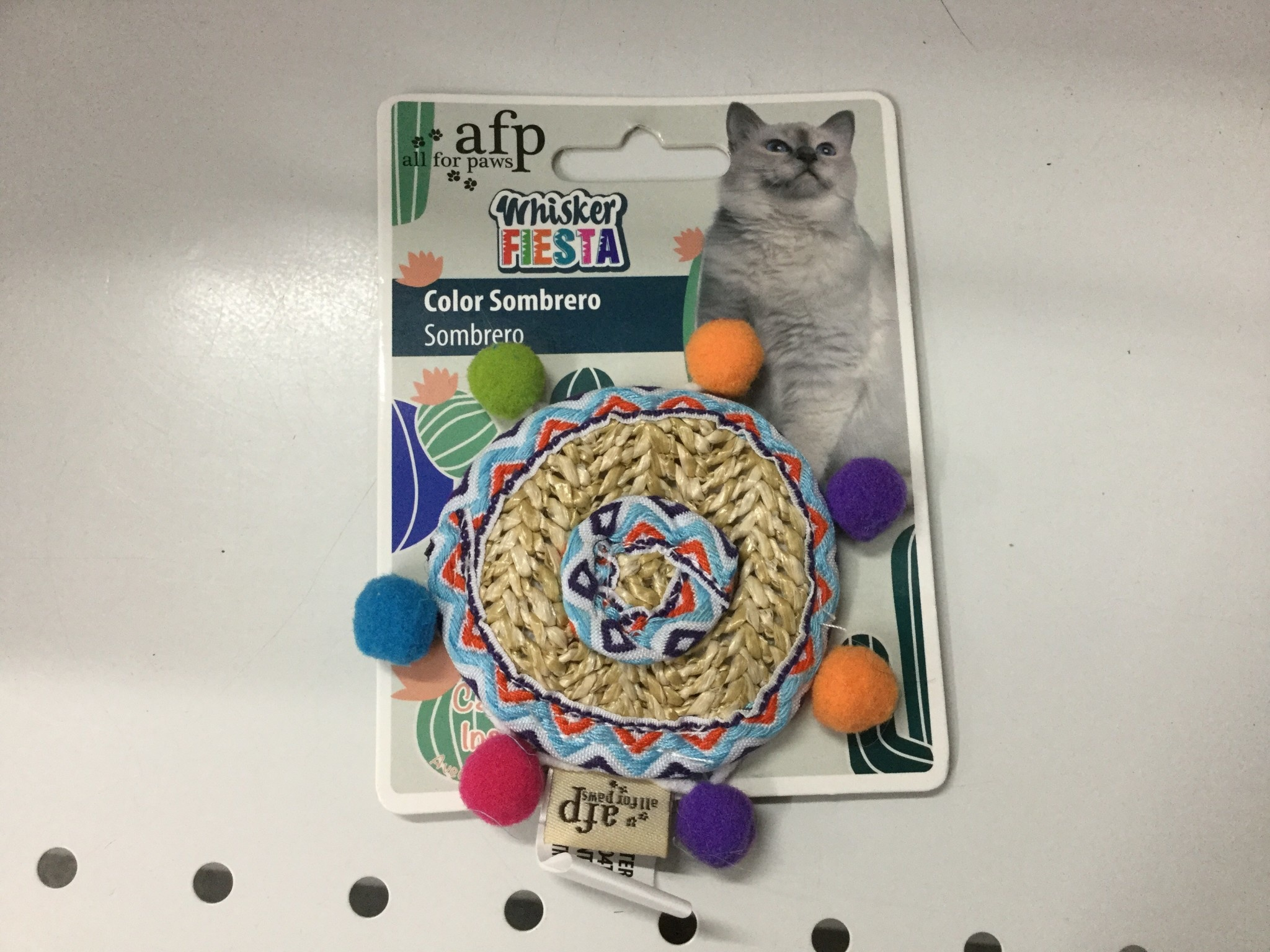 All For Paws Color Sombrero Cat Toy-1