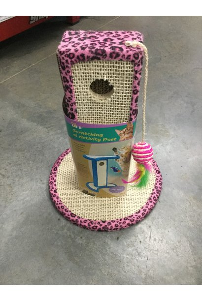 Jungle Print Scratching Post -Pink