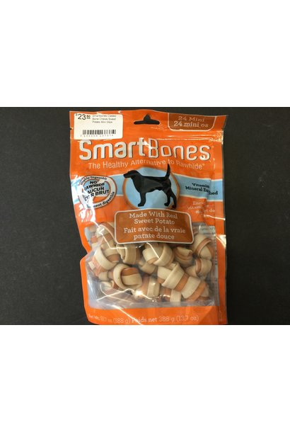 Smartbones Classic Bone Chews Sweet Potato Mini 24pk