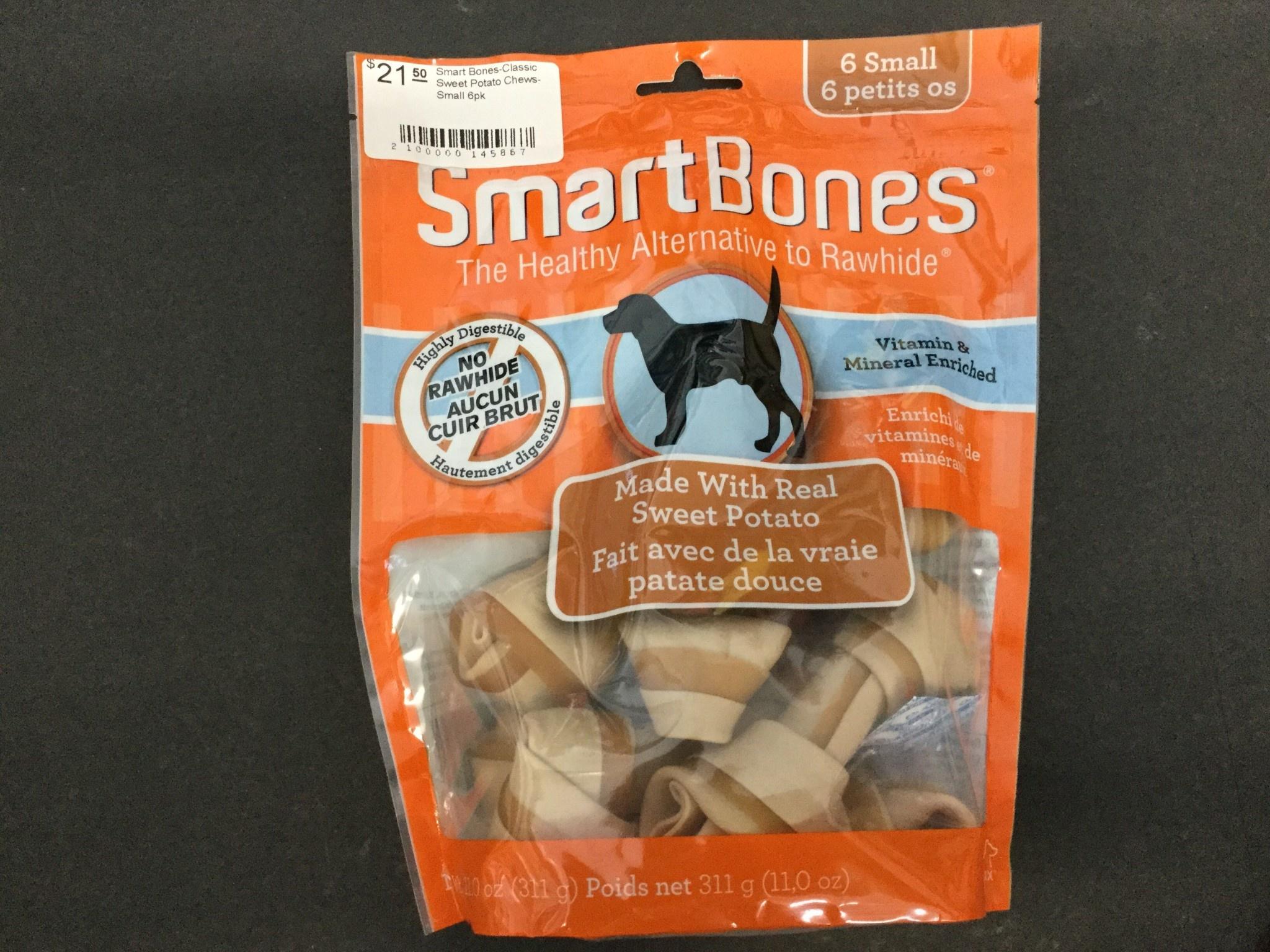 Smart Bones-Classic Sweet Potato Chews-Small 6pk-1