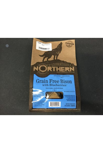 Northern Biscuits GF Bison with Blueberries 500gm
